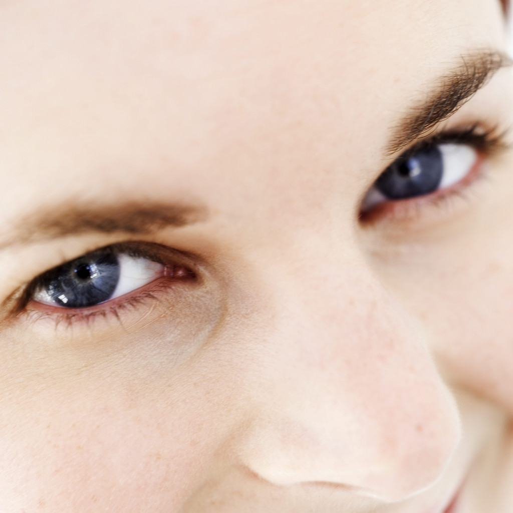 Woman's Eyes and Nose --- Image by © Royalty-Free/Corbis